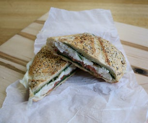 Pressed Chicken and Pesto Sandwich