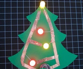LED Paper Holiday Tree