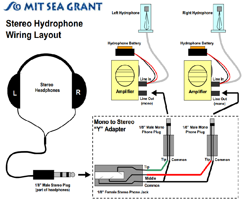Picture of Stereo Hydrophone Wiring Lay Out