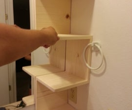 How to Build a Corner Shelf for you Bathroom at TechShop