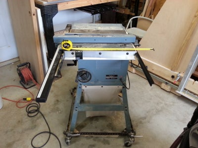 Remove Existing Table Saw Extension & Attach Angle Bracket