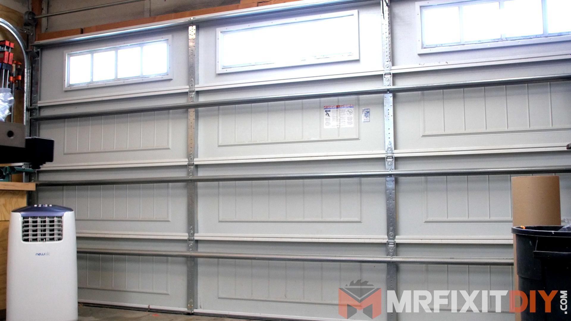 Picture of Preparing to Insulate the Garage Door