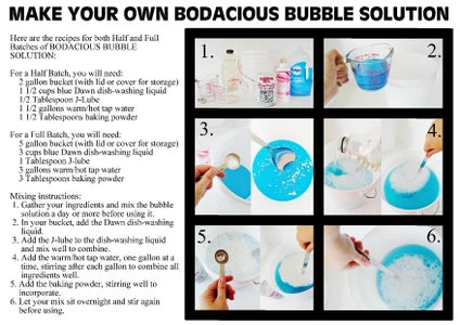 Making Your BODACIOUS BUBBLE SOLUTION - Mix the Day Before Using for Best Results