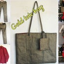 How to Sew a Gold Tote Bag From Old Jeans