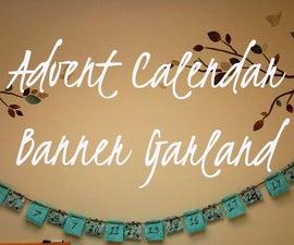 Advent Calendar Banner Garland