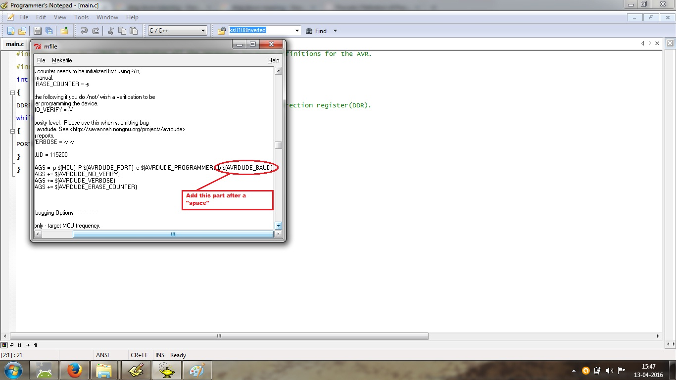 Picture of Programming the Arduino UNO Rev3 From WinAVR Environment