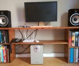 TV Table & Book Shelves