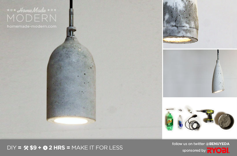 Picture of HomeMade Modern DIY Concrete Pendant L& & HomeMade Modern DIY Concrete Pendant Lamp: 10 Steps (with Pictures)