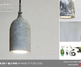 HomeMade Modern DIY Concrete Pendant Lamp