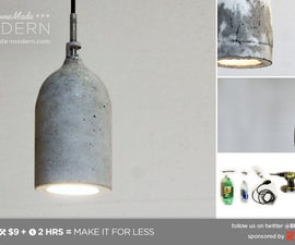 HomeMade Modern DIY Concrete Pendant Lamp