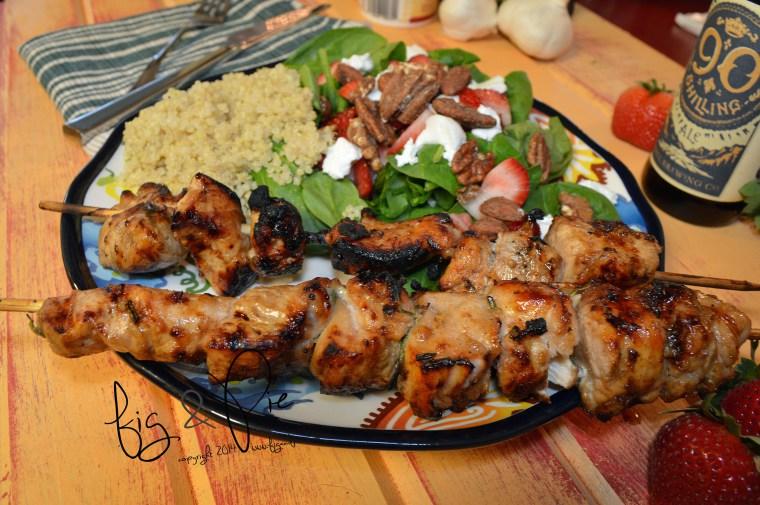 Picture of Balsamic Vinegar & Honey Chicken Skewers