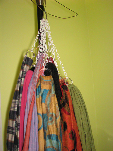 Picture of Hanging Scarf Cluster Storage