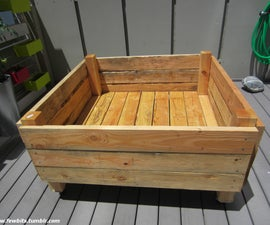 EASY RAISED GARDEN BED ON CASTERS FOR PATIO OR DECK