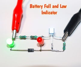 3.7V Battery Low and Full Level Indicator Circuit