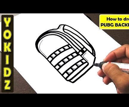 HOW TO DRAW PUBG BACKPACK