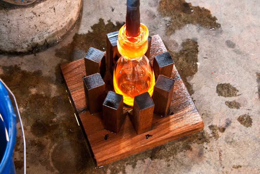 Picture of Wood Mold for Glassblowing