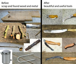 DIY blacksmithing - Converting your barbecue into a forge then using it to recycle scrap metal into tools