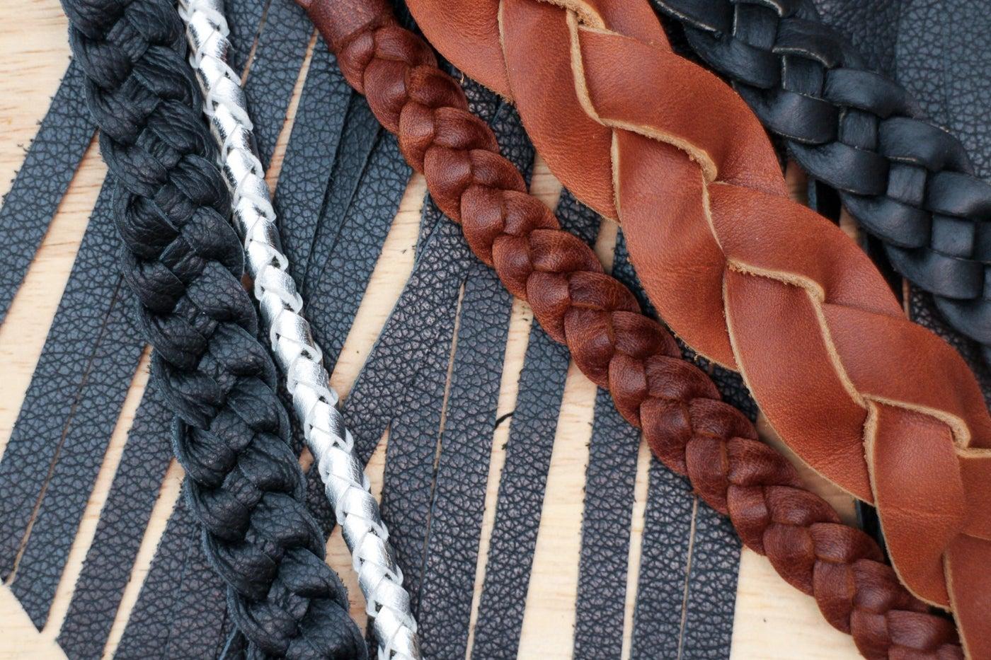 Making Leather Braids