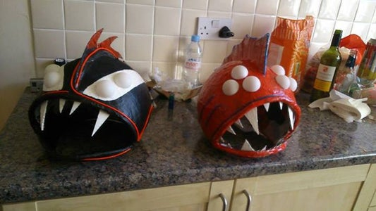 """Punk Vampire"" and ""Scary Nemo"" Halloween Masks"