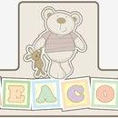 I Love My Bear 3D Childrens Door Sign