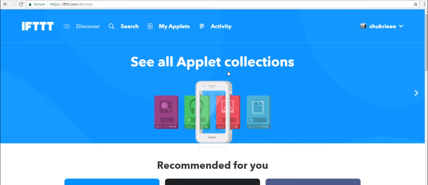 Picture of Go to the IFTTT Website