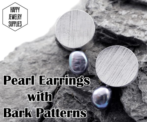 Picture of DIY Tutorial - How to Make the Sterling Silver Earrings With Black Pearl
