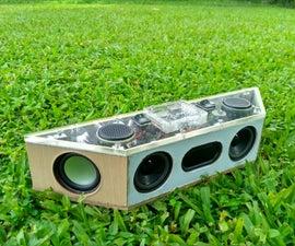 Hand Built 26 Watt Portable Bluetooth Speaker