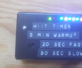 High Intensity Interval Training (HIIT) Timer