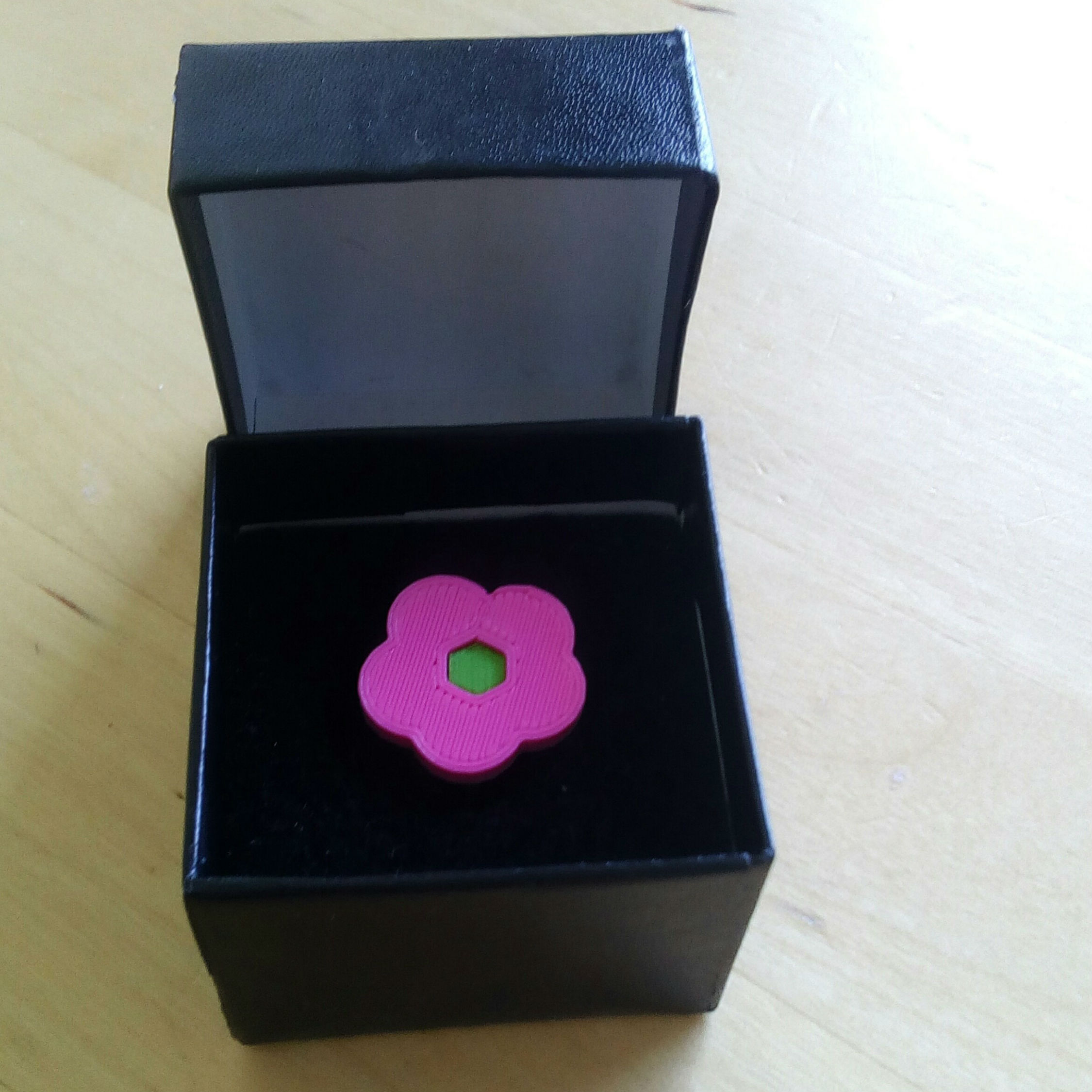Picture of 3D Printed Flower Ring
