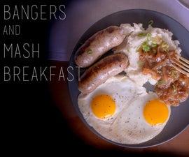 猪扒和土豆泥早餐