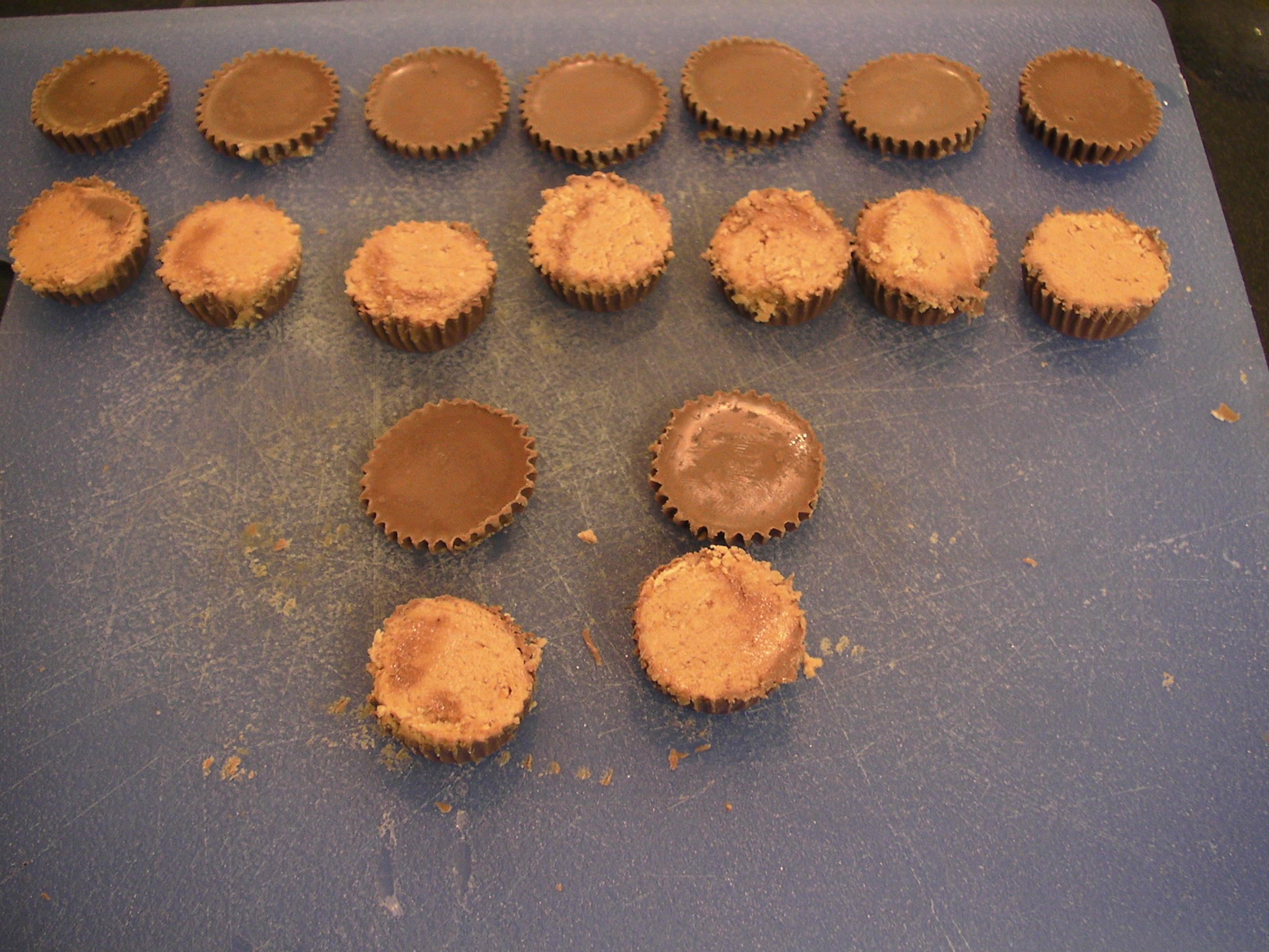 Picture of Half a Peanut Butter Cup - Divided - Half Inside With a Topper