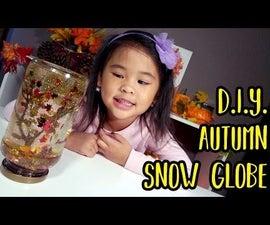 DIY Autumn / Fall Snow Globe