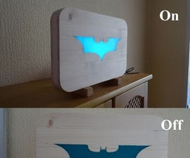 Glow in the dark Batman Light