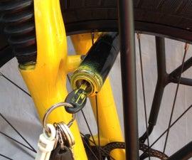 Front wheel kryptonite bike lock hack