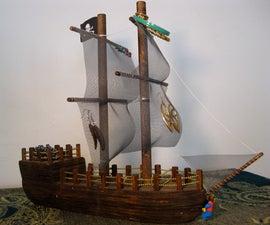 Pirate Ship Jewelry Stand