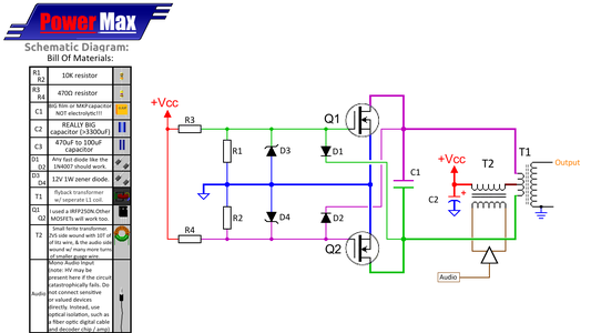 ZVS Circuit Diagram and Prototyping / Troubleshooting