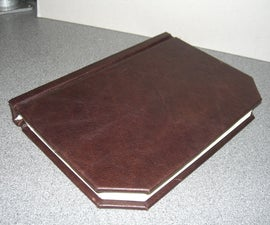 Simple Leather Book Binding Using Power Tools! BSG Edition.