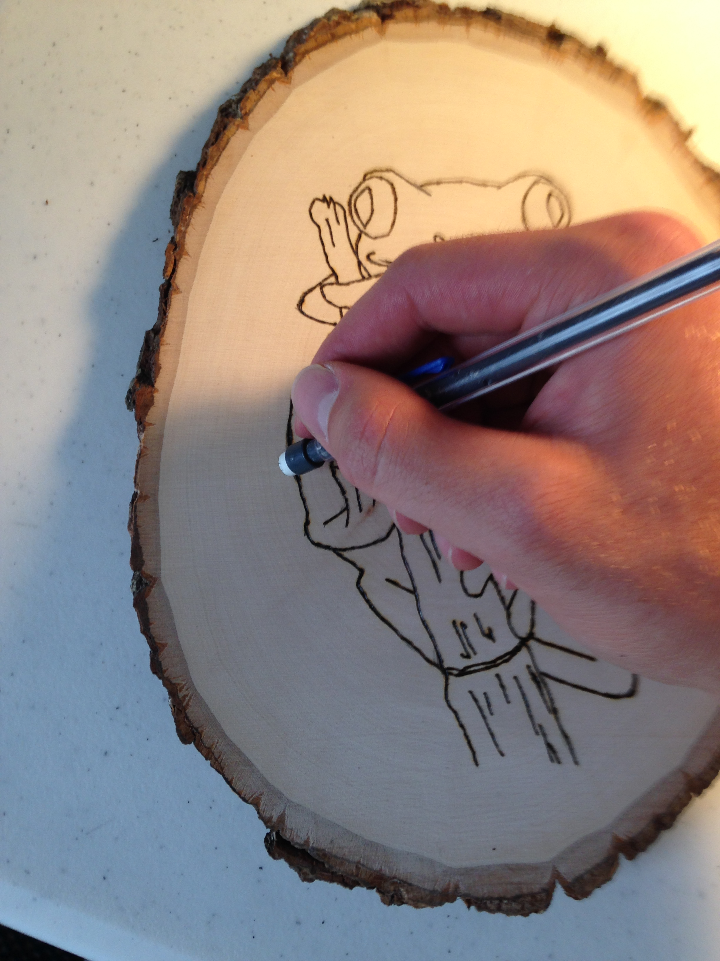 Picture of Erase Stray Graphite From Wood-burning