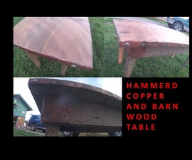 Rustic Hammered Copper Table