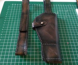 Weathering Fake Holsters for Cosplay