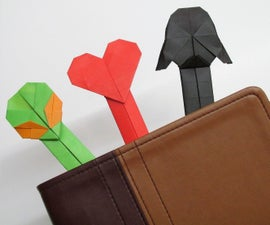 Amazing Origami Bookmarks: Darth Vader, Alien, and Heart (with Videos)