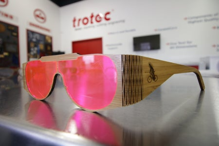 Wooden Glasses With Hinge and Acrylic Lenses