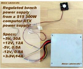 ATX based lab Power Supply