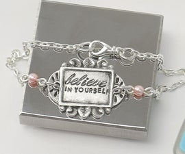 Metal Stamped Believe in Yourself Bracelet