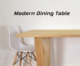 用胶合板做高档家具——DIY现代餐桌