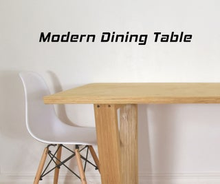 Making High End Furniture From Plywood - DIY Modern Dining Table