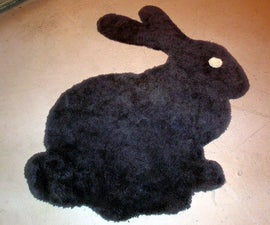 Bunny Rug - transferring an image to any surface with a projector