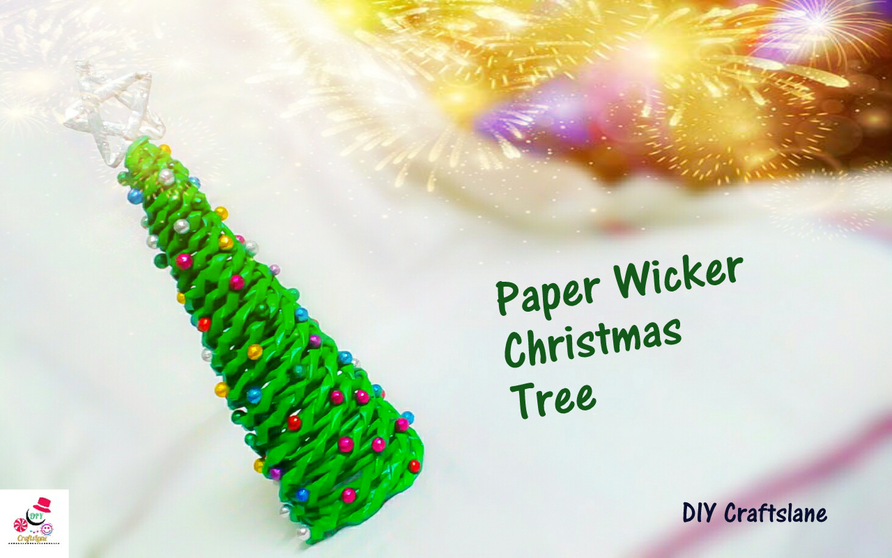 Picture of DIY Paper Wicker Christmas Tree | How to Make Paper Wicker Christmas Tree | DIY CraftsLane