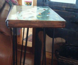 Fishing Lure Side Table