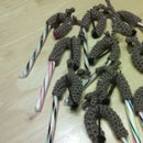 Crocheted Reindeer Candy Cane Covers